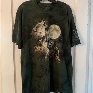 Vintage The Mountain Wolves Howling Tie Dye Sz XL